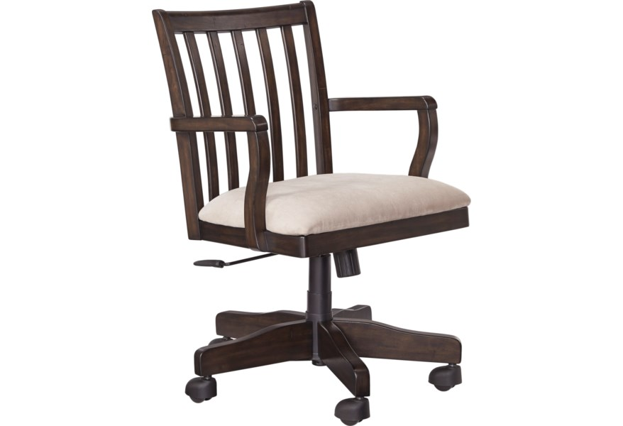 Signature Design Townser Home Office Swivel Desk Chair Fisher Home Furnishings Office Task Chairs