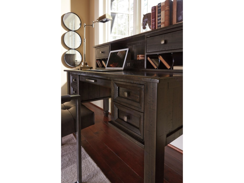Signature Design by Ashley TownserHome Office Desk & Hutch