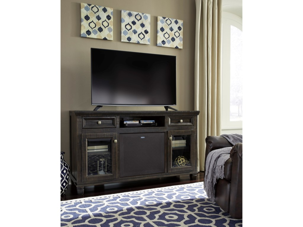 Signature Design by Ashley TownserLarge TV Stand w/ Large Bluetooth Speaker