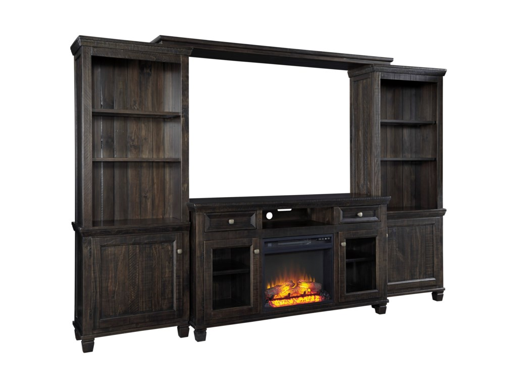 Signature Design by Ashley TownserEntertainment Center w/ Fireplace