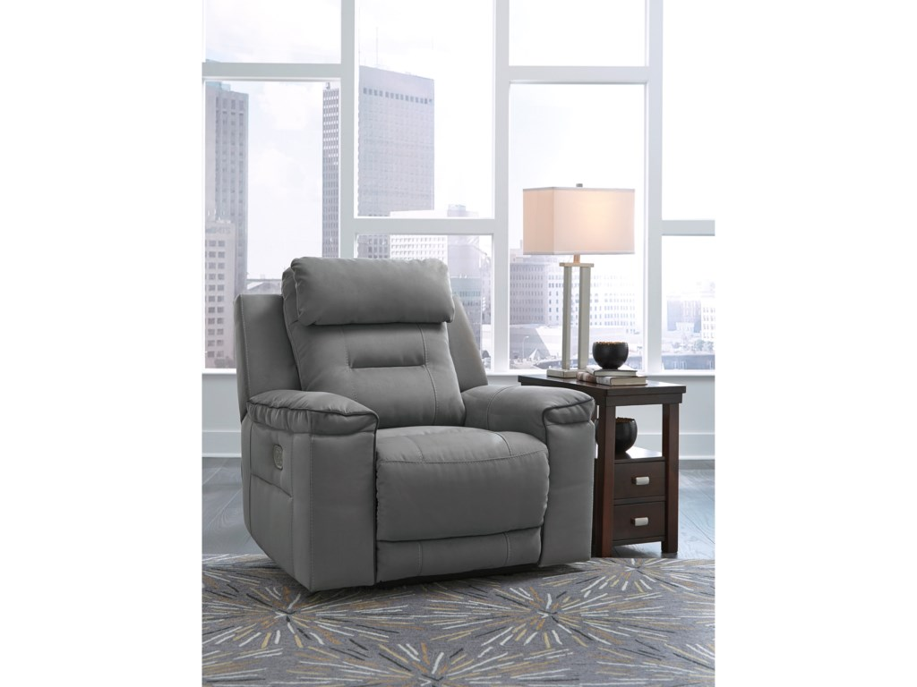 Signature Design by Ashley TramptonPower Recliner with Adjustable Headrest
