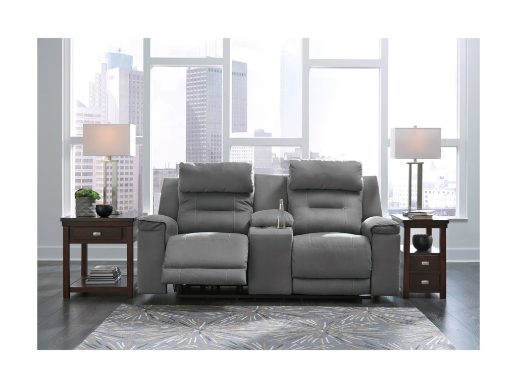 Signature Design by Ashley TramptonPower Reclining Loveseat with Console