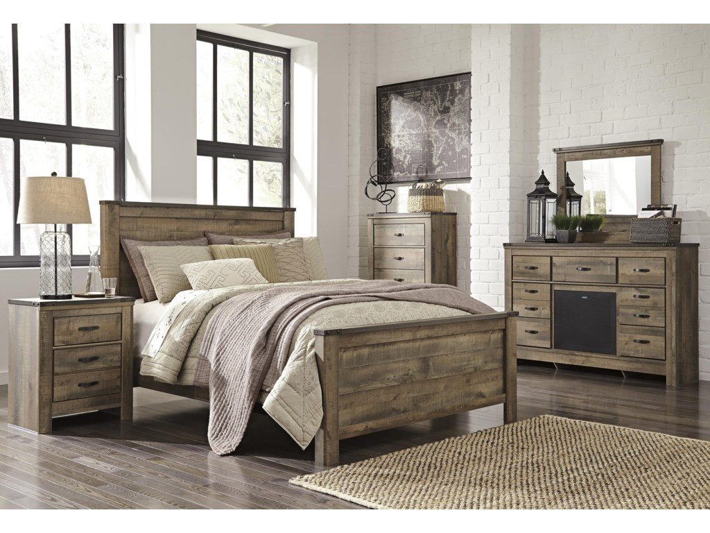 Signature Design by Ashley TrinellKing Panel Bed Package