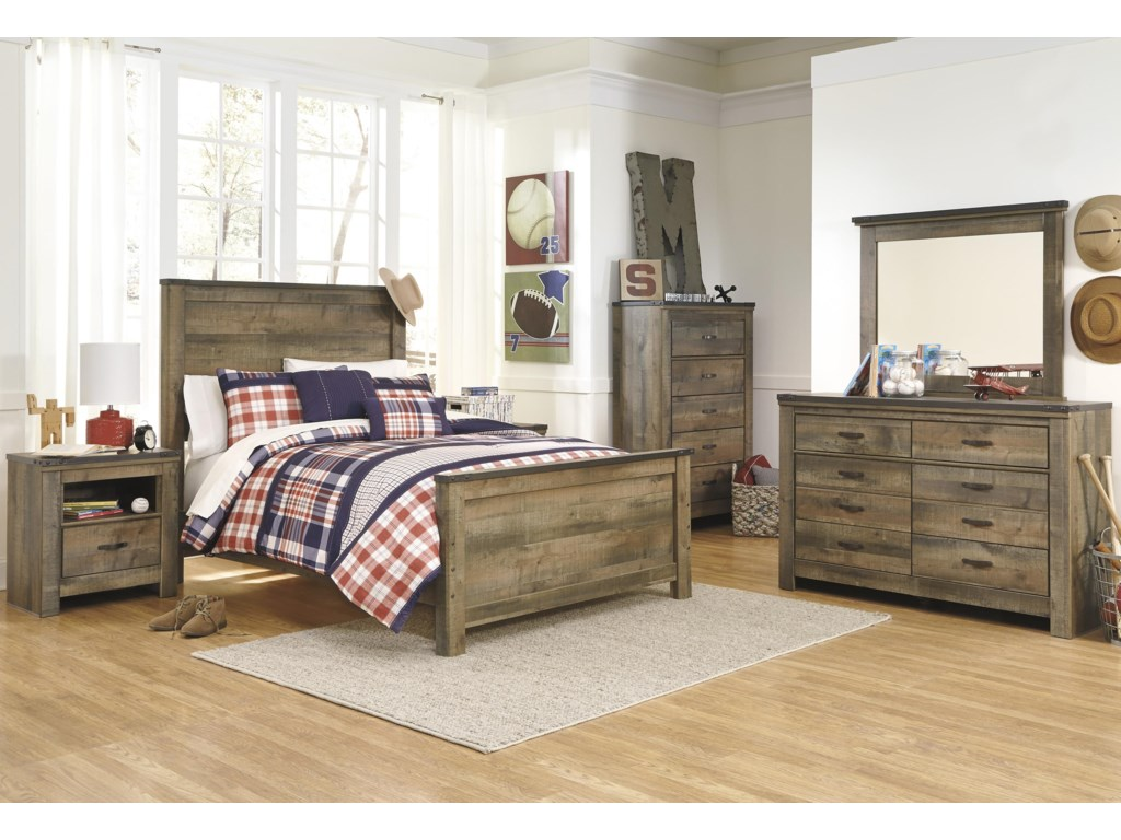 Signature Design by Ashley TrinellFull Panel Bed Headboard Package