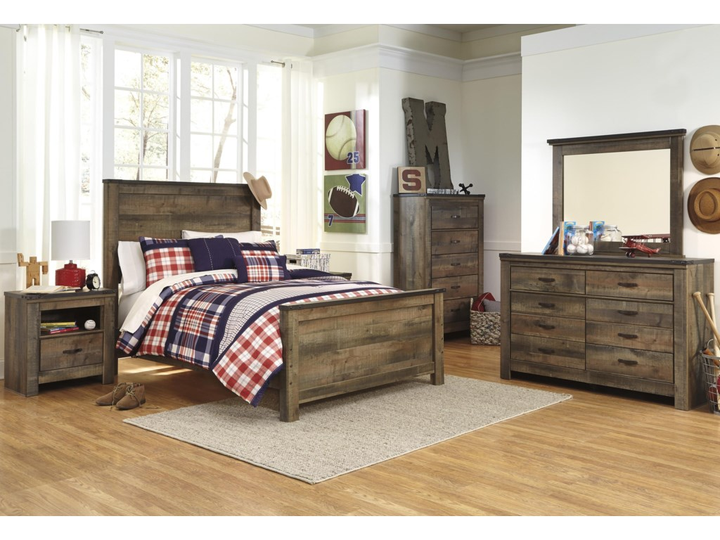 Signature Design by Ashley TrinellFull 5 Piece Bedroom Group