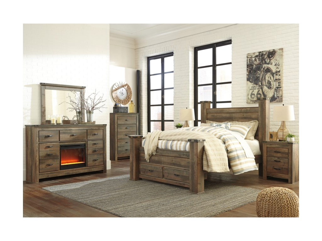 Ashley (Signature Design) TrinellQueen Bedroom Group