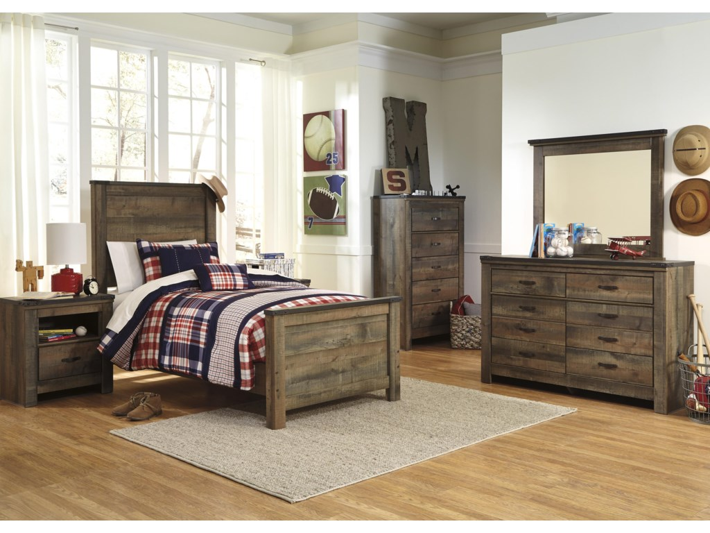 Ashley Signature Design Trinell Twin Bedroom Group | Dunk & Bright ...