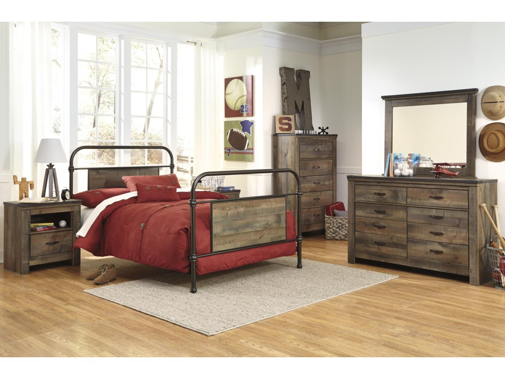 Signature Design by Ashley TrinellYouth Dresser & Bedroom Mirror