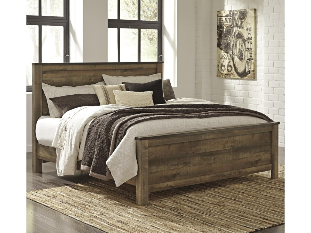 Signature design by ashley trinellking panel bed