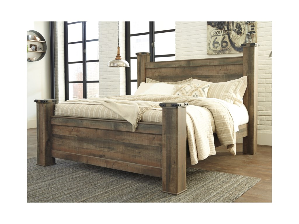 Signature Design by Ashley TrinellKing Poster Bed