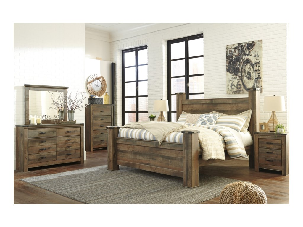 Signature Design by Ashley VickersKing Poster Bed