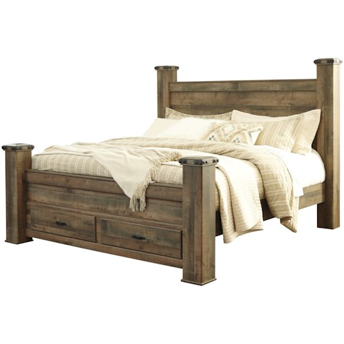 Signature Design by Ashley Trinell King Storage Bed   Northeast ...