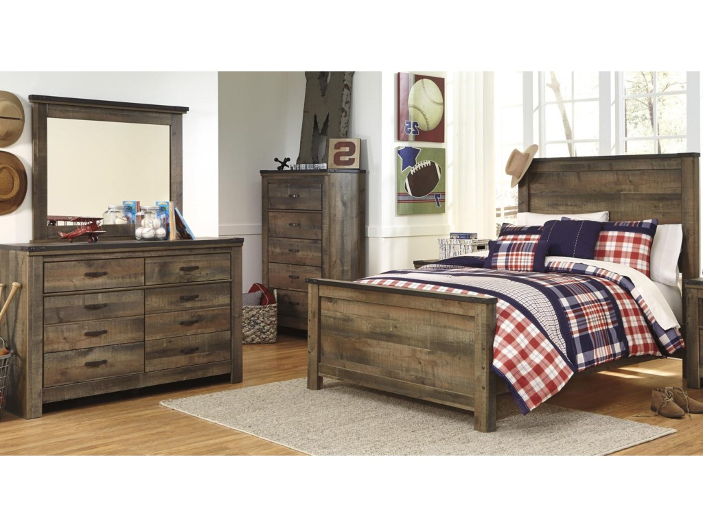 Signature Design by Ashley TrinellFull Bed, Dresser and Mirror
