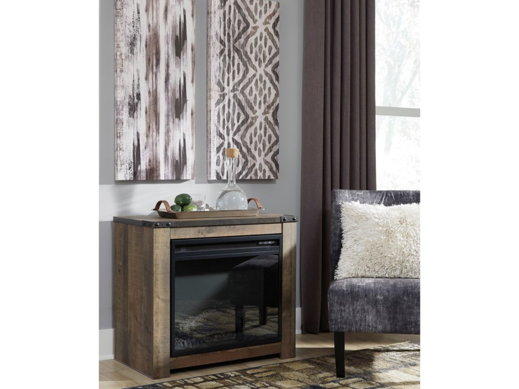 Signature Design by Ashley TrinellFireplace Mantel with Fireplace Insert
