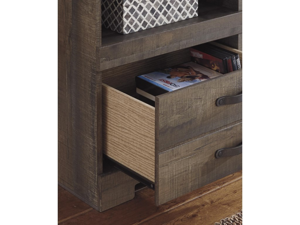 Trendz TrevorLarge TV Stand & 2 Tall Piers