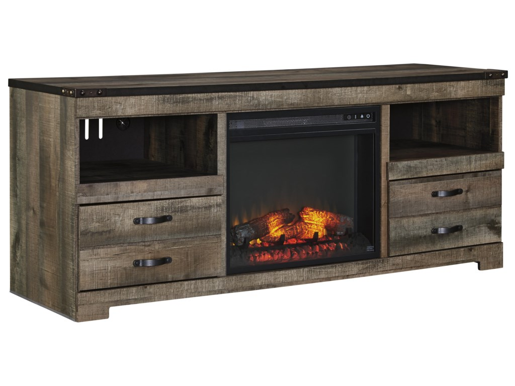 Trendz TrevorLarge TV Stand with Fireplace Insert