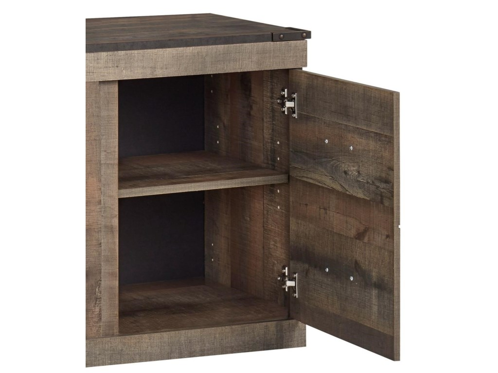 Signature Design by Ashley TrinellEntertainment Wall Unit w/ Fireplace