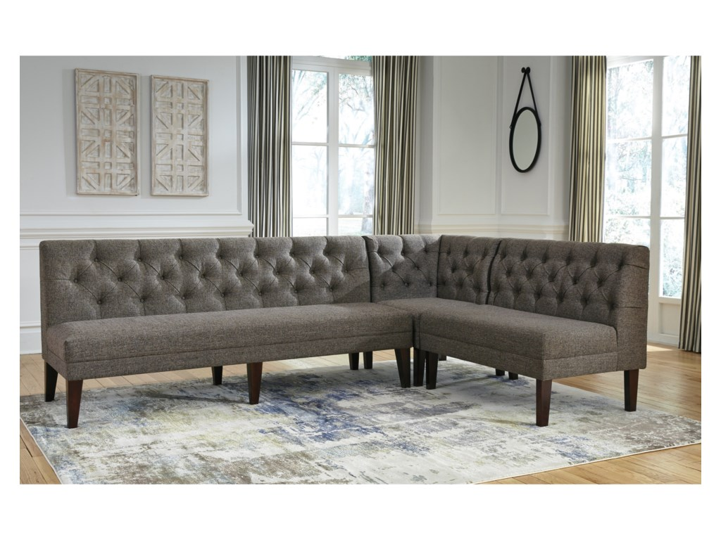 Signature Design by Ashley Tripton Large Upholstered Dining Room ...