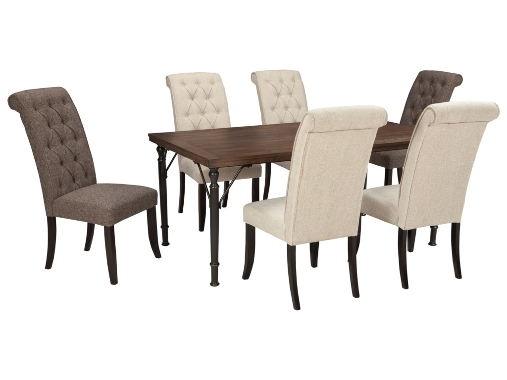 Signature Design by Ashley Tripton7-Piece Rectangular Dining Room Table Set