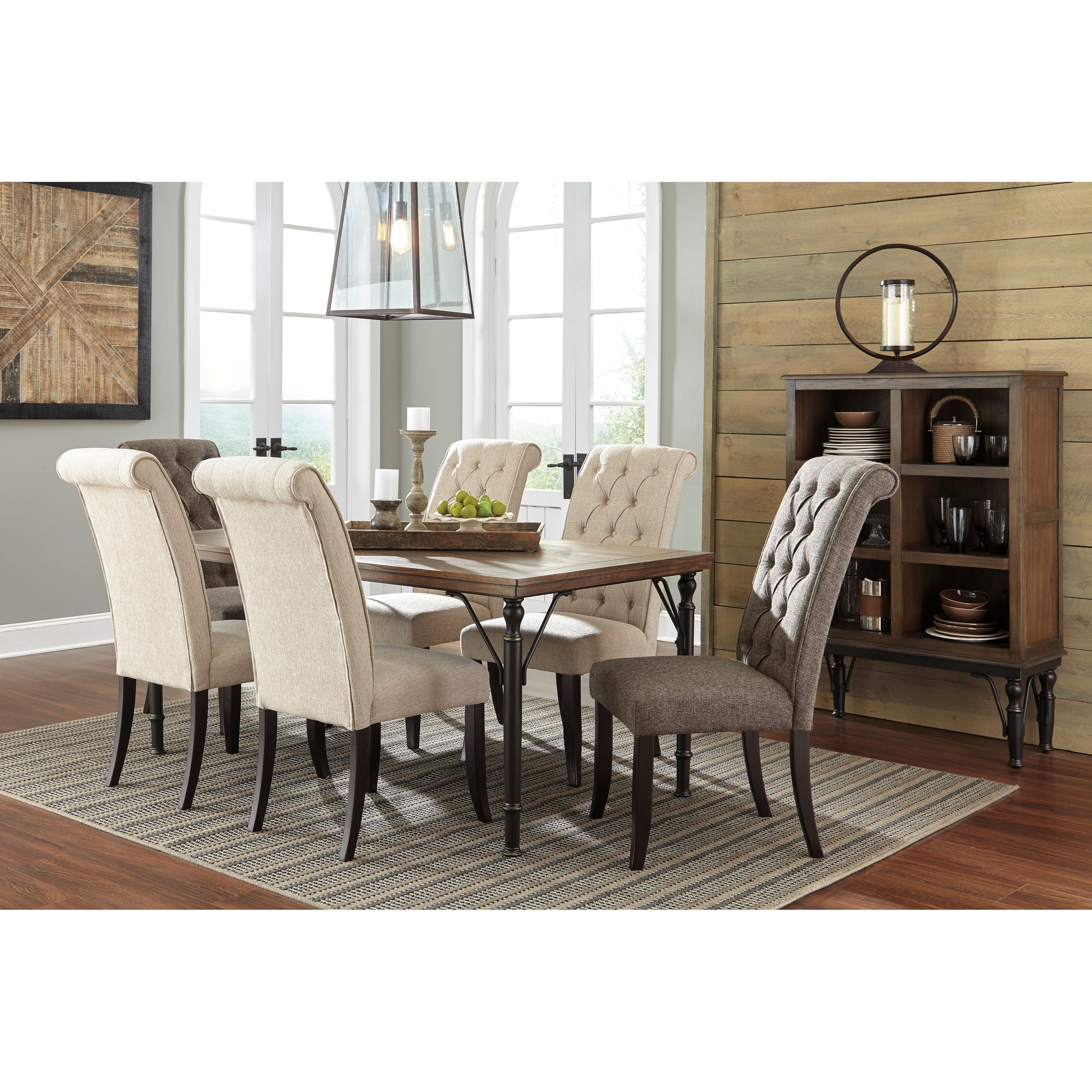 ... Signature Design by Ashley Tripton7-Piece Rectangular Dining Room Table Set ...  sc 1 st  Coconis Furniture & Signature Design by Ashley Tripton 7-Piece Rectangular Dining Room ...