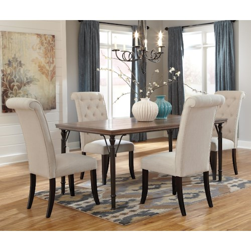 Tripton Extra Large Dining Bench: Ashley Signature Design Tripton 5-Piece Rectangular Dining