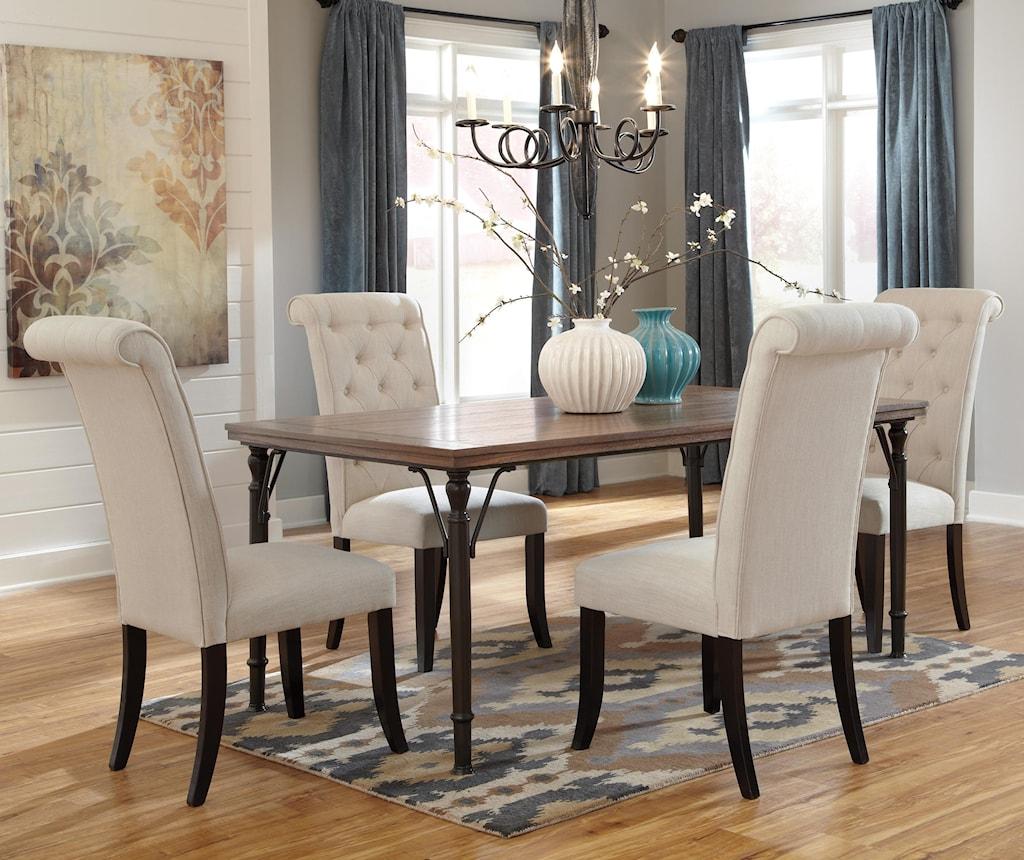 Ashley signature design tripton5 piece rectangular dining room table set