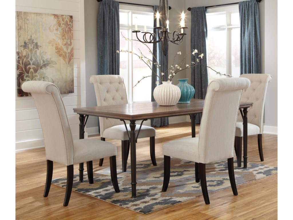 Ashley signature design tripton5 piece rectangular dining room table set