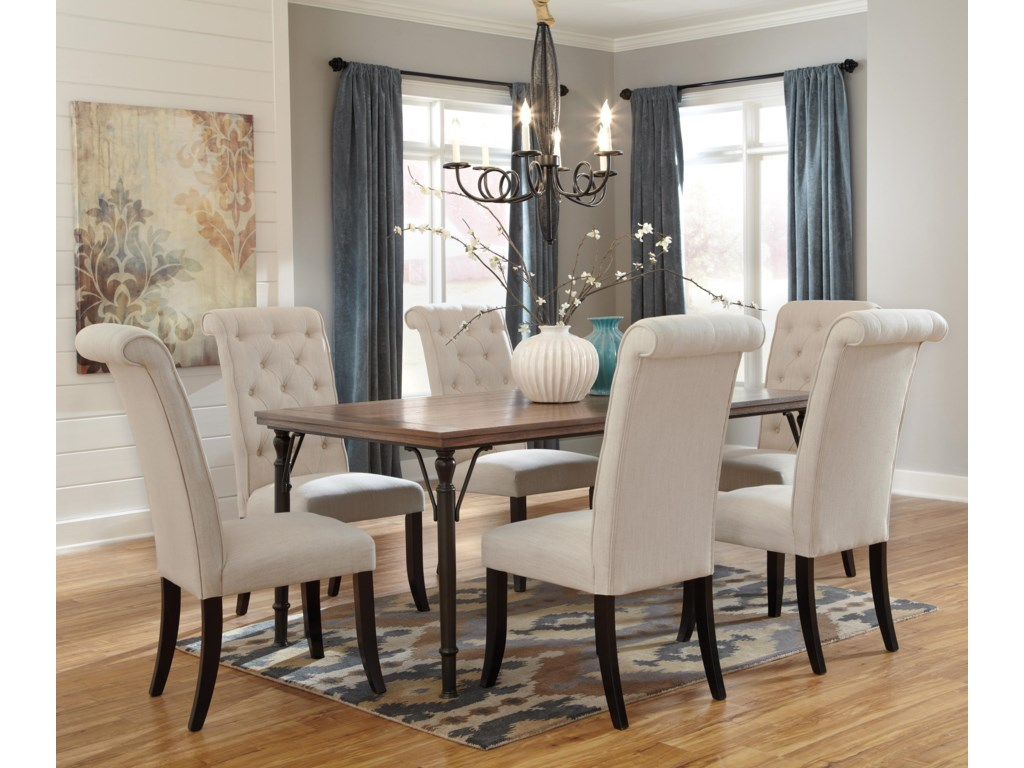 Theodore 7-Piece Rectangular Dining Room Table Set w/ Wood Top ...