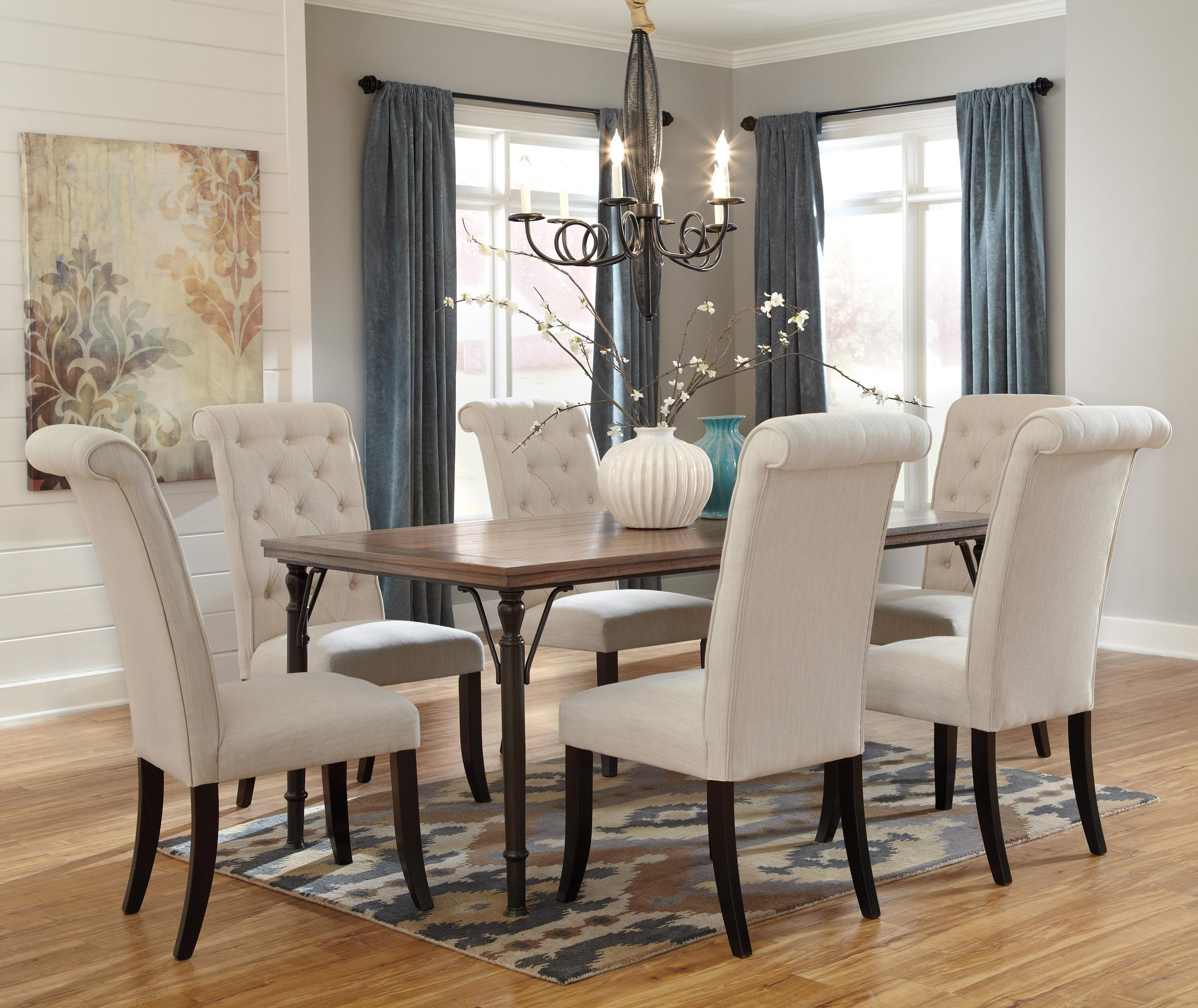 Trendz Theodore7 Piece Rectangular Dining Room Table Set ...