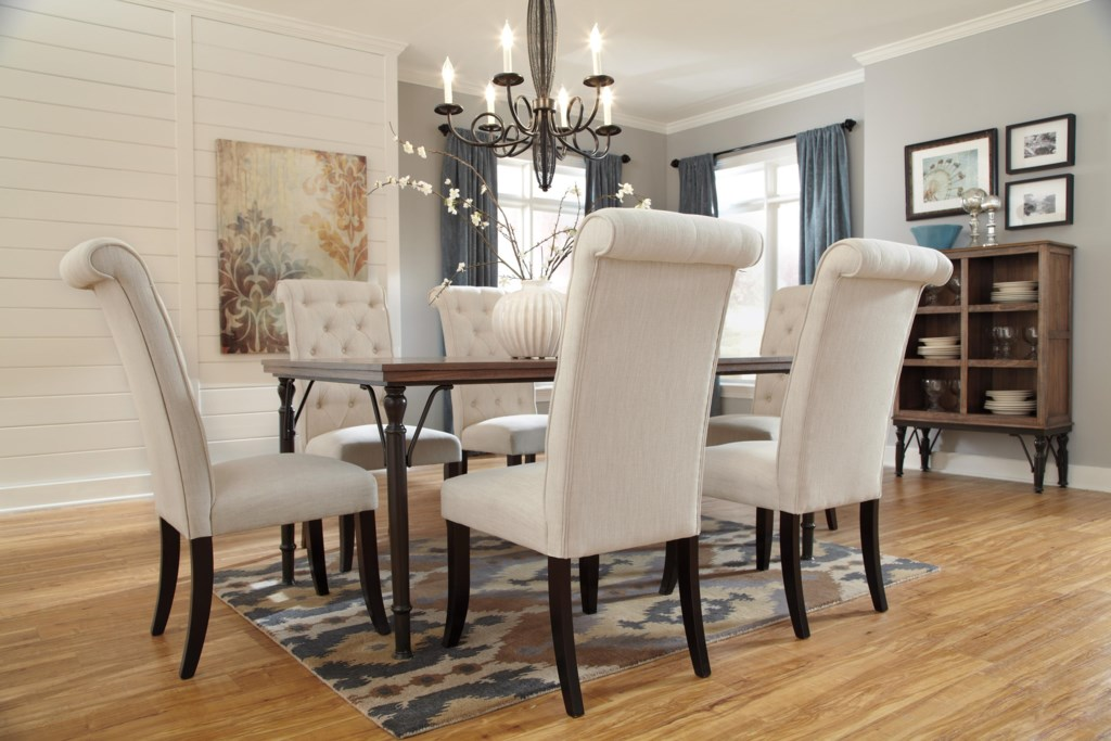 Theodore 7 Piece Rectangular Dining Room Table Set w Wood Top