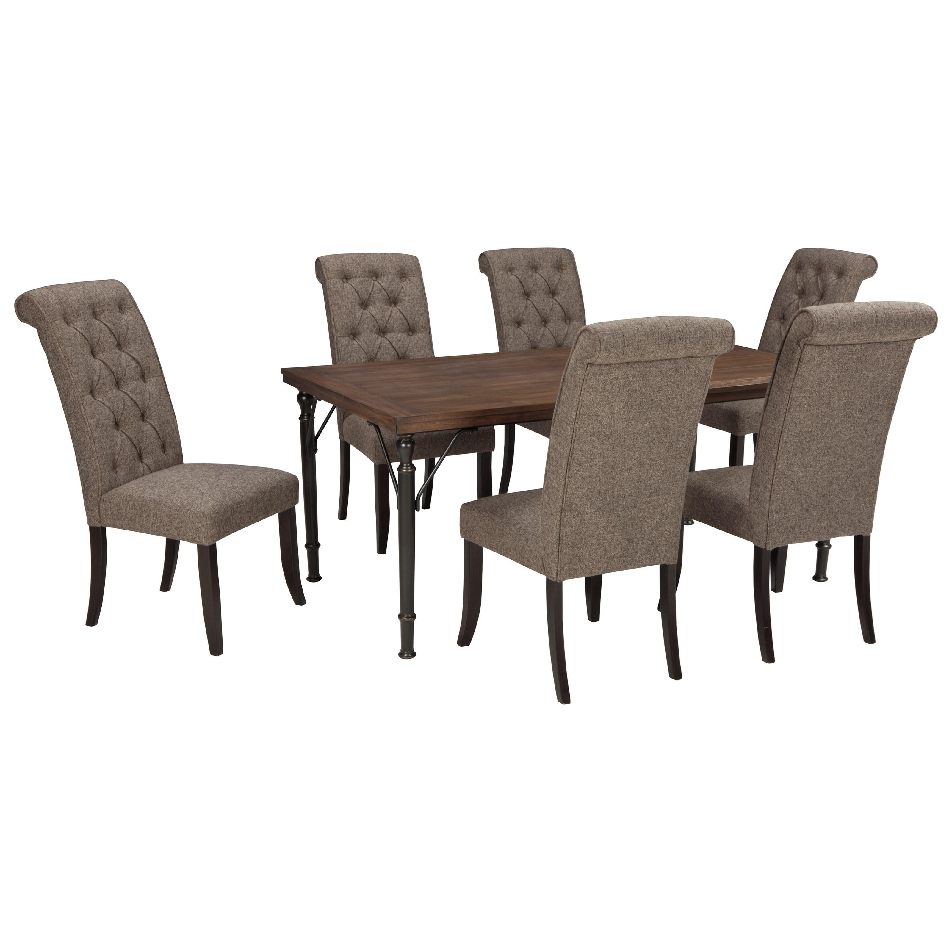 Signature Design By Ashley Tripton7 Piece Rectangular Dining Room Table Set  ...