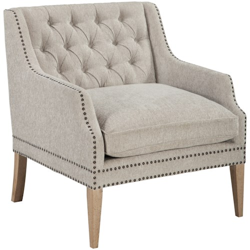 signature design by ashley trivia tufted back accent chair with
