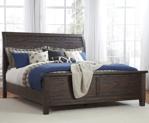 Signature Design by Ashley Trudell California King Soild Pinewood Sleigh Bed