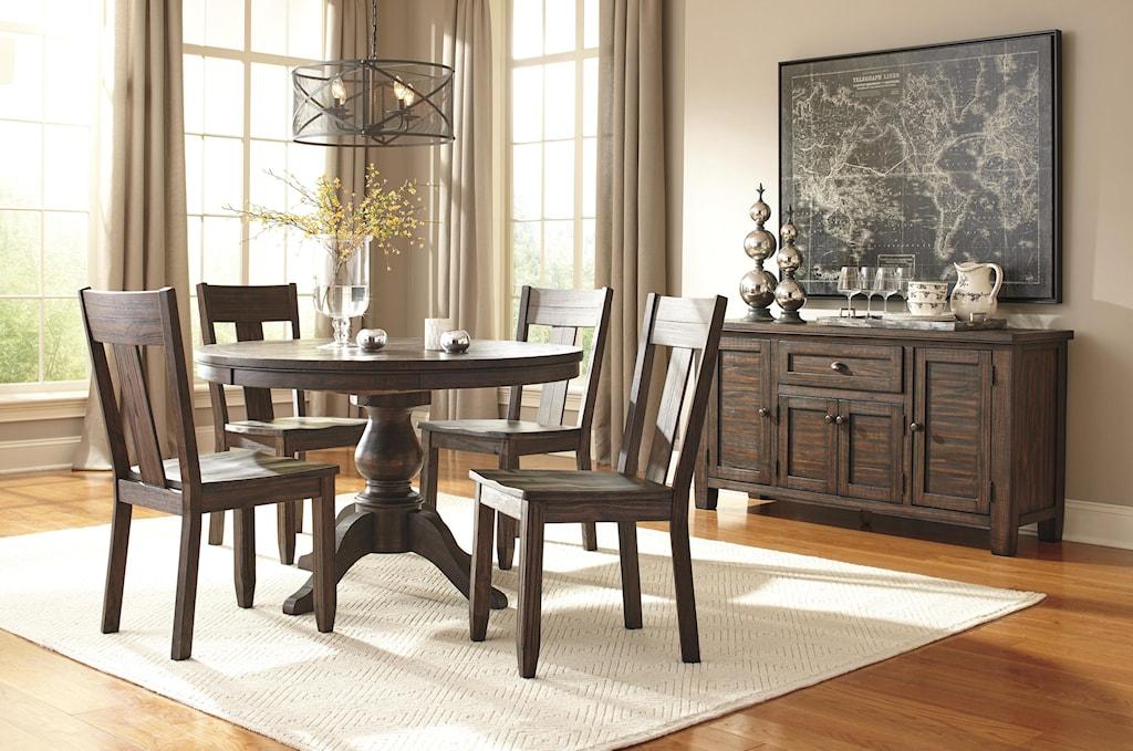 signature designashley trudell 5-piece round dining table set