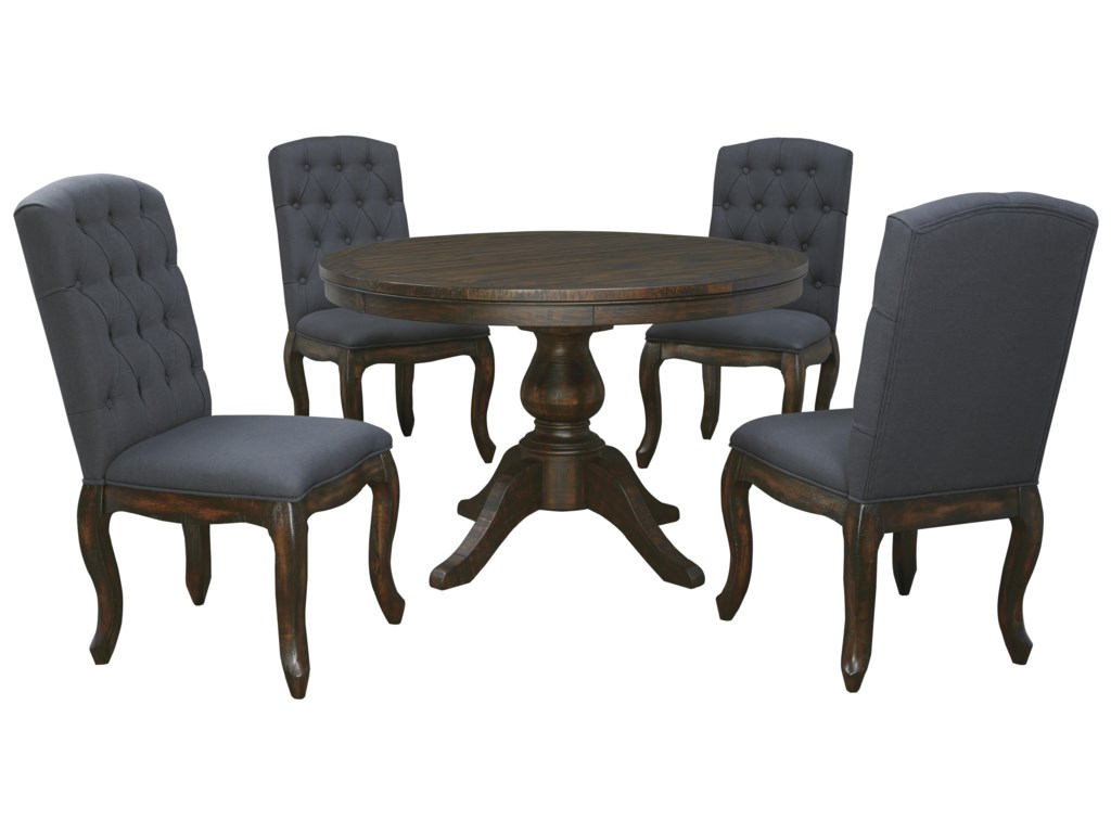 Ashley Signature Design Trudell5 Piece Round Dining Table Set