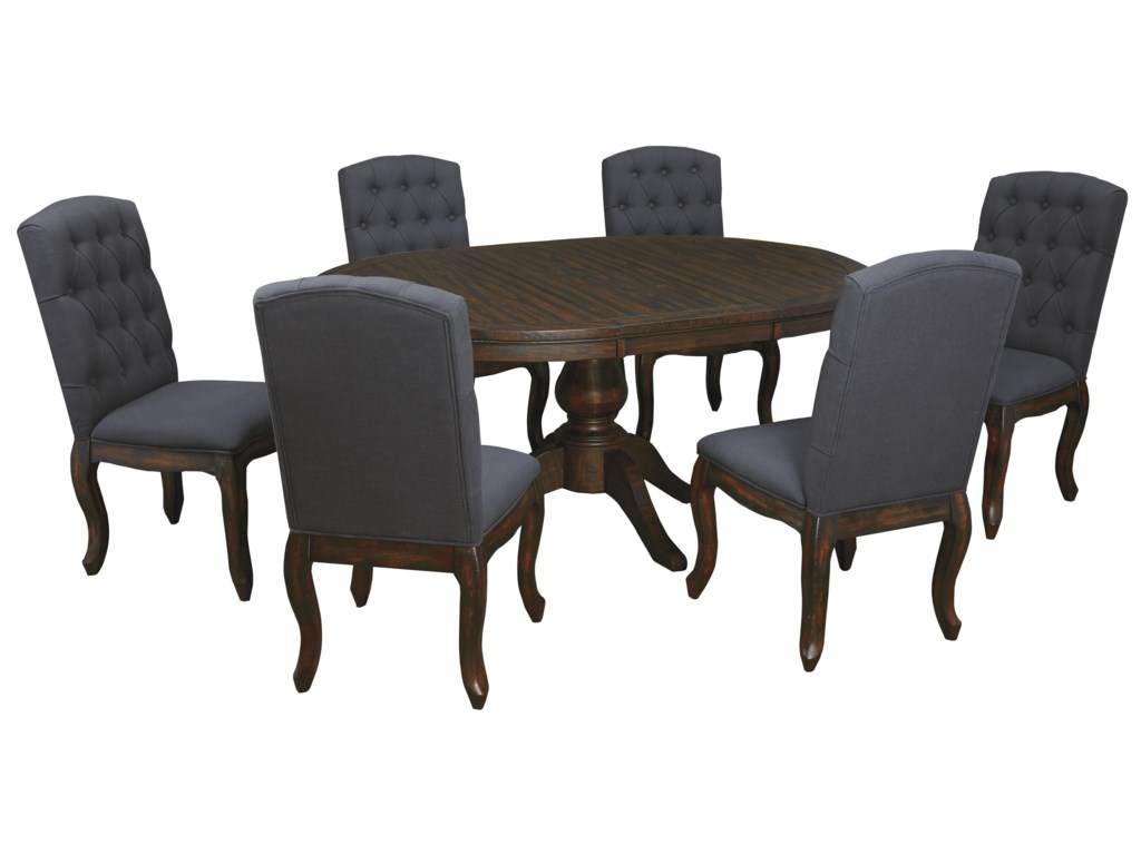 Signature Design By Ashley Trudell7 Piece Oval Dining Table Set