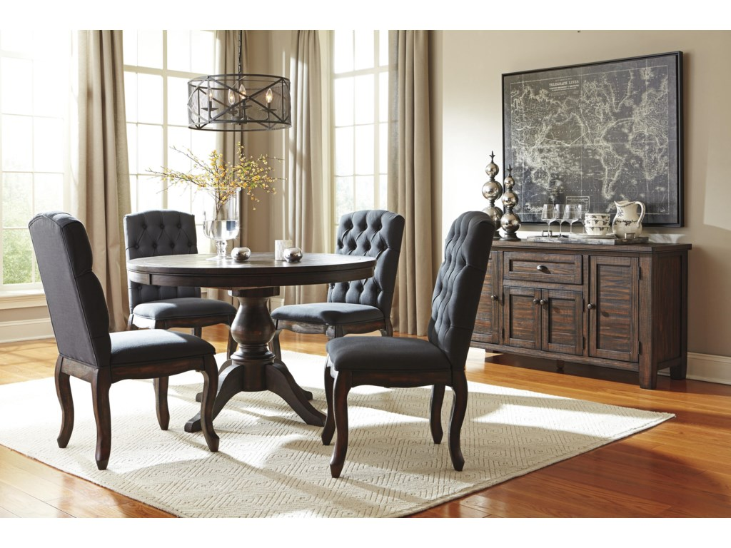 Signature Design by Ashley TrudellRound Dining Room Pedestal Extension Table