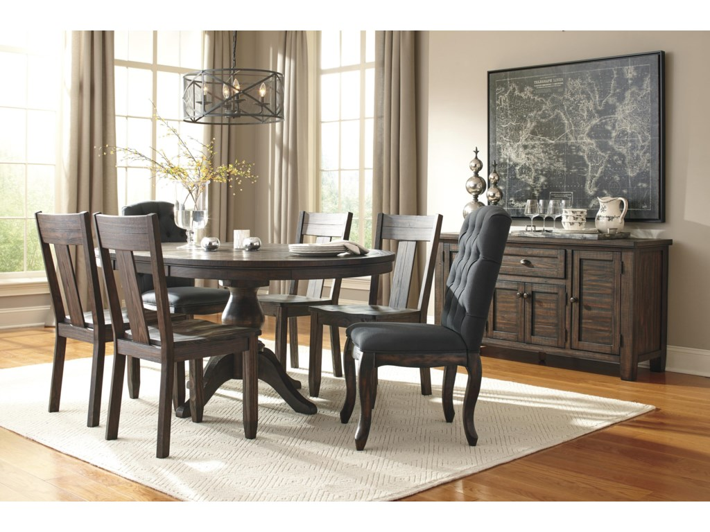 Signature Design by Ashley Trudell Solid Wood Pine Dining Room ...