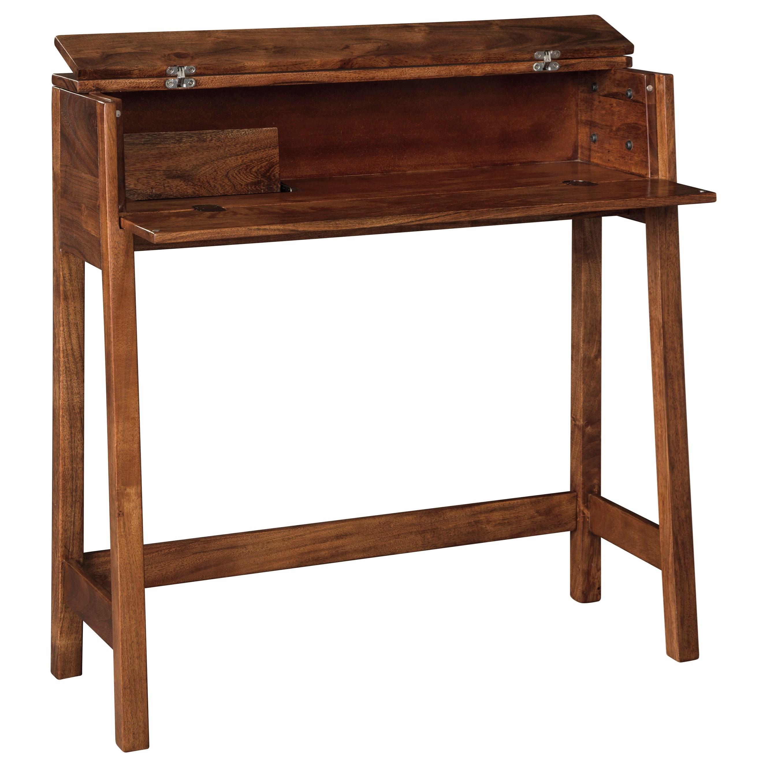 Solid Wood Console Sofa/Secretary Desk in Medium Brown Finish