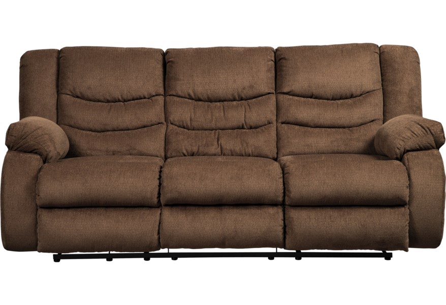 Tulen Contemporary Reclining Sofa by Signature Design by Ashley at Darvin  Furniture