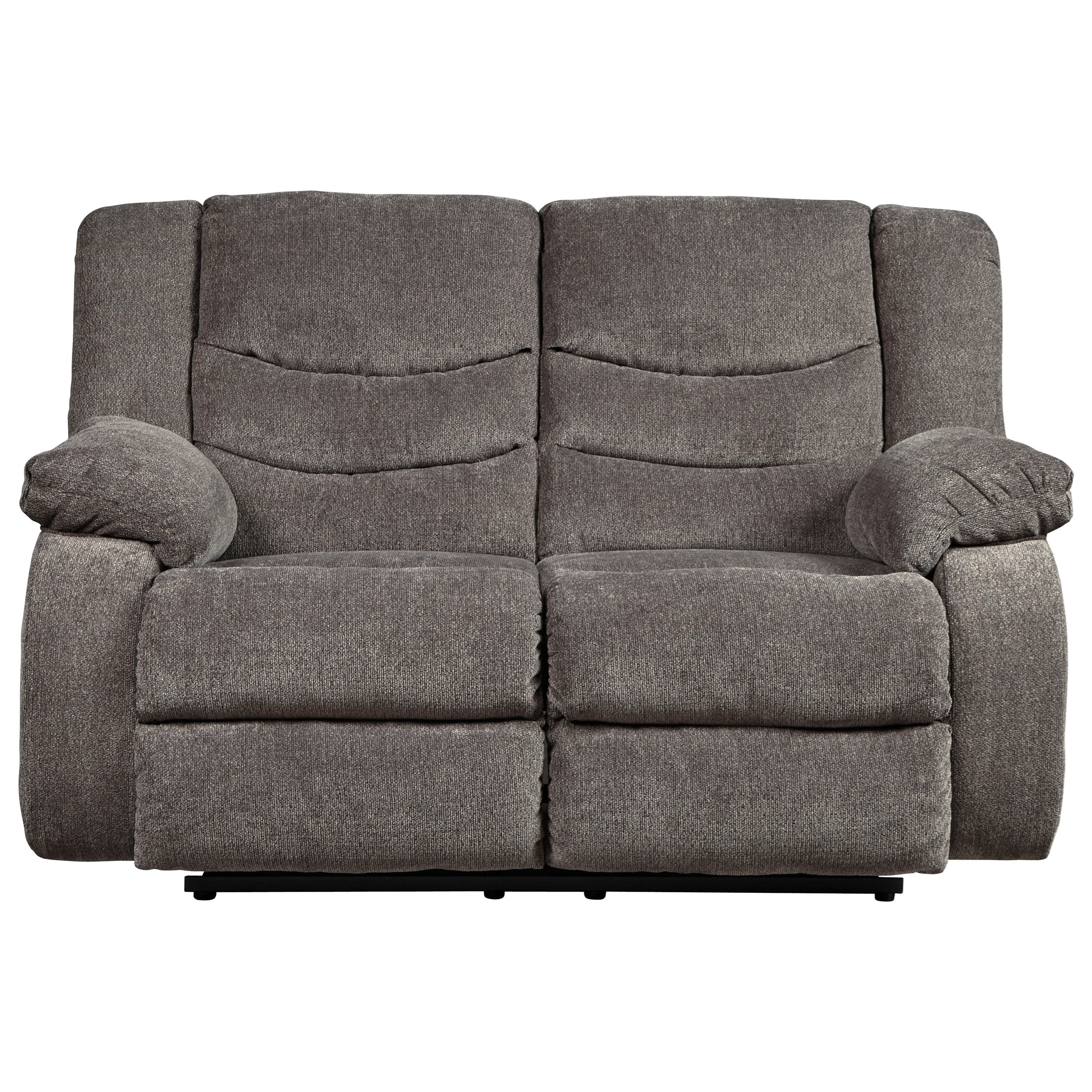 Picture of: Signature Design By Ashley Tulen Contemporary Reclining Loveseat Wayside Furniture Reclining Love Seats