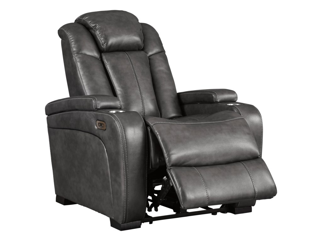 Signature Design by Ashley TurbulancePower Recliner w/ Adjustable Headrest