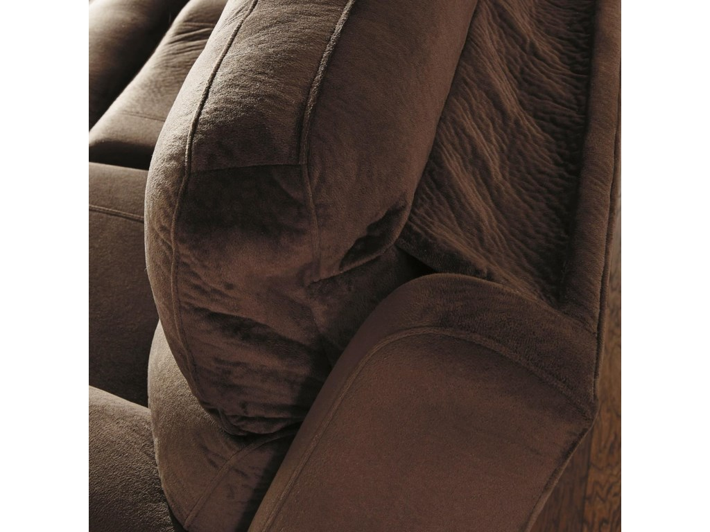 Signature Design by Ashley UhlandPower Reclining Loveseat w/ Adj. Headrest