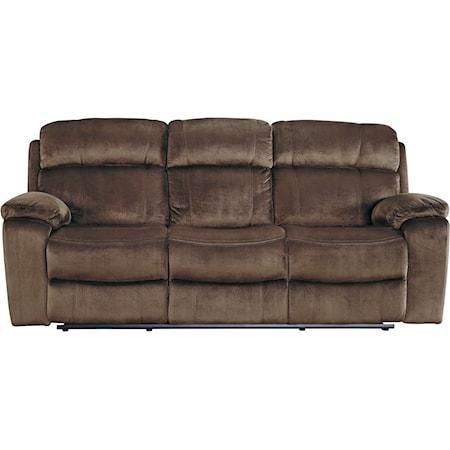 Power Reclining Sofa w/ Adjustable Headrest