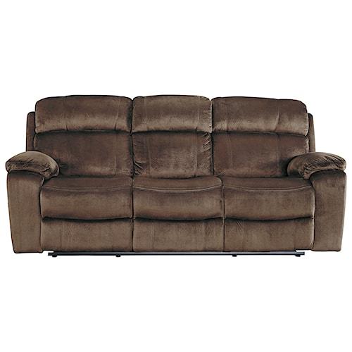 Signature Design by Ashley Uhland Contemporary Power Reclining Sofa w/ Adjustable Headrest