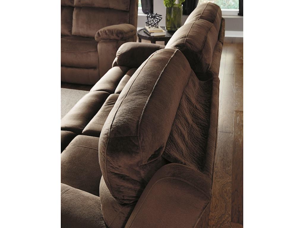 Signature Design by Ashley UhlandPower Reclining Sofa w/ Adjustable Headrest