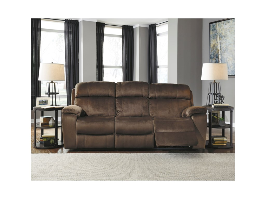 Signature Design by Ashley UhlandPower Reclining Sofa w/ Adjustable Headrest