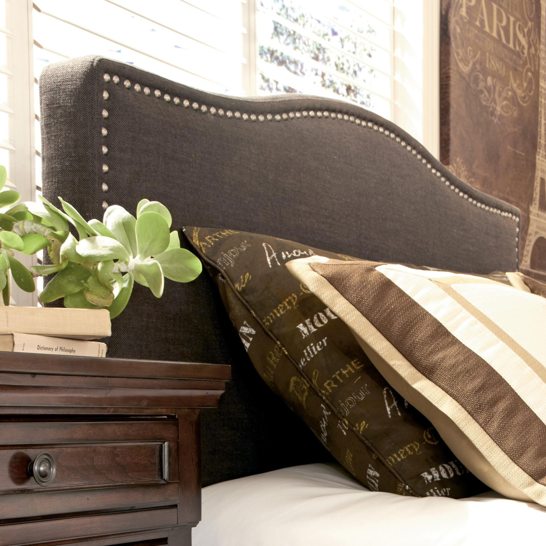 kasidon b600357 queen upholstered headboard with brown woven fabric by signature design by ashley