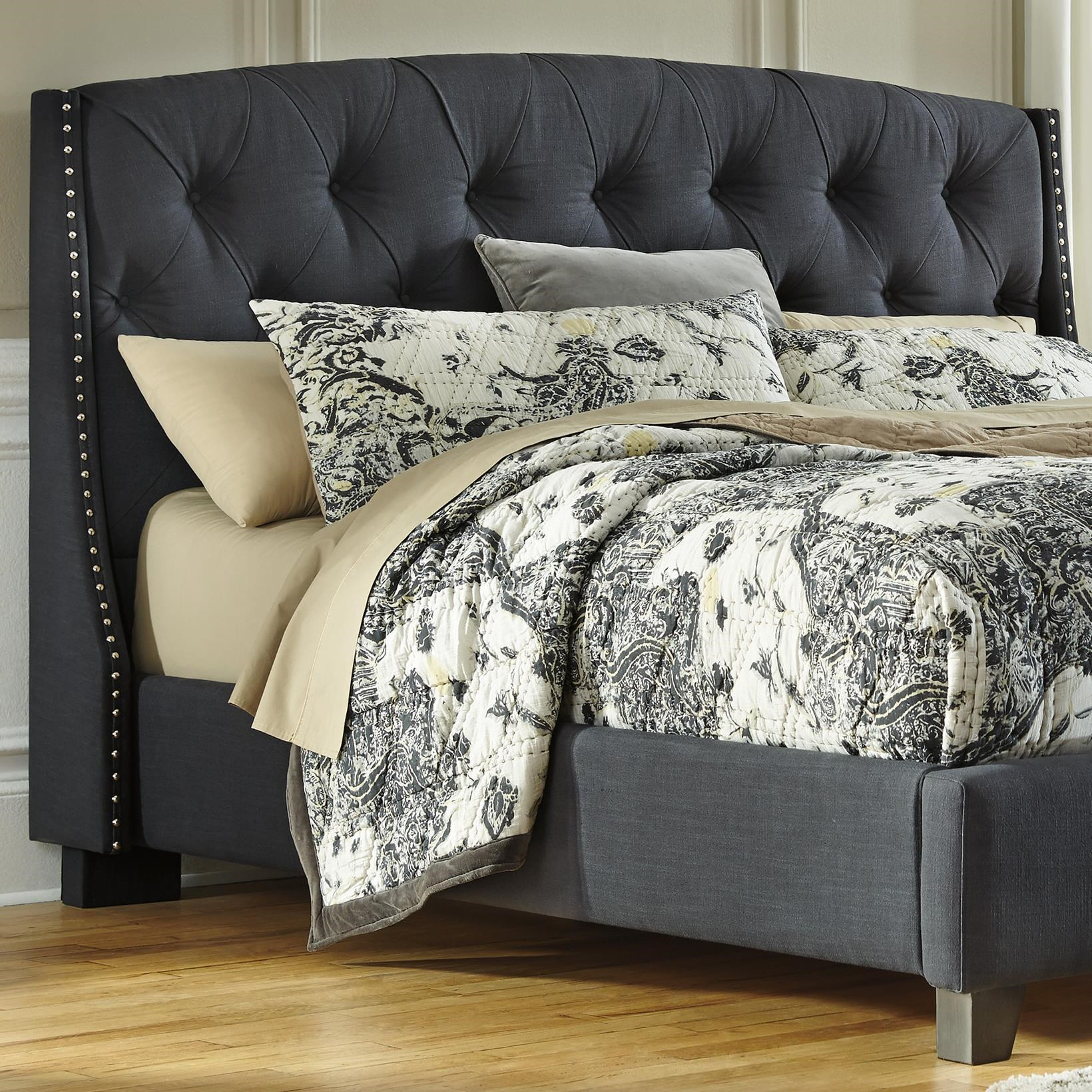queen upholstered headboard and frame platform bed signature design by ashley kasidonqueen upholstered headboard kasidon queen in