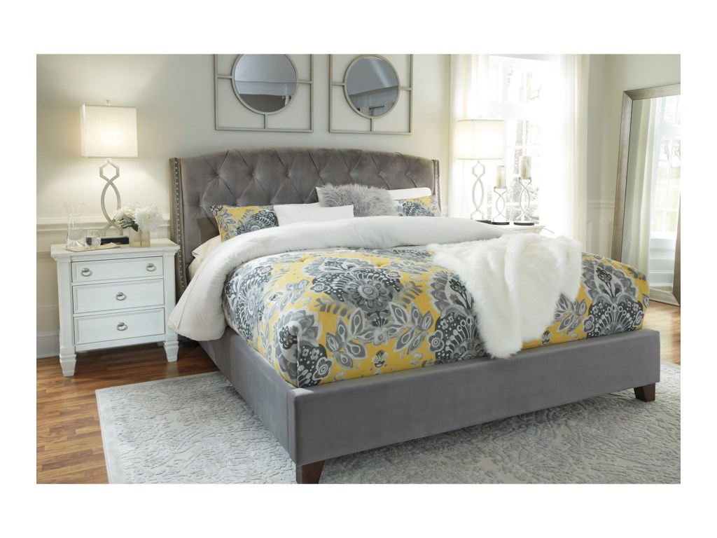 Rooms Collection Three KasidonQueen Upholstered Bed